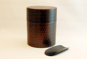 銅茶筒(茶み付き)
