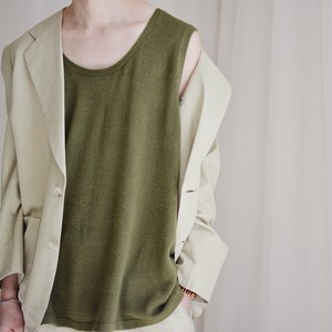 no sleeve tops / khaki