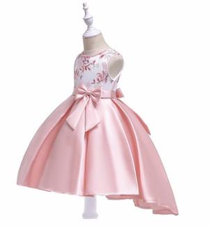 【送料無料】新作 刺繍 ロング リボン付き  上品 ドレス