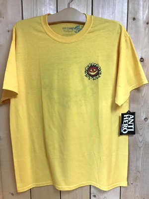 ANTIHERO GRIMPLE STICKS Tee YELLOW L