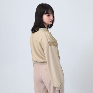 【FLOWER by RADIO EVA 023】See-though EVA Monogram Blouson  BEIGE /  EVANGELION エヴァンゲリオン