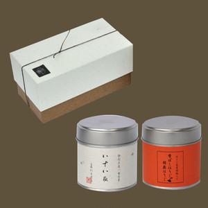 小缶2本箱 八十八夜の茶/香ばしほうじ胡麻ほうじティーバッグ