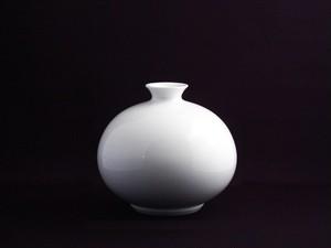 【井上萬二作】白磁丸形壷-D