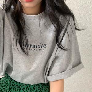【トップス】人気 合わせやすい デーリー ストリート系 可愛い アルファベット Tシャツ44554292