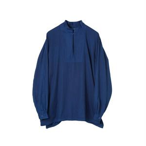 SOWBOW SHIRT -C    (MANDARIN COLLAR Pullover) Dk.INDIGO