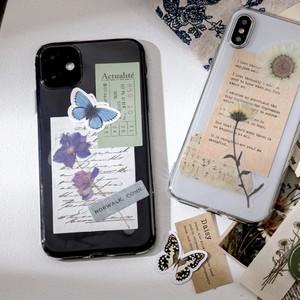コラージュ素材一式 全6種 シール 紙もの PET素材 花柄 蝶 コラージュ ジャンクジャーナル ほぼ日手帳 C19