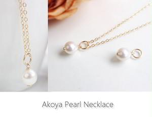 一粒あこやバロック本真珠のネックレス(7.5~8mm)