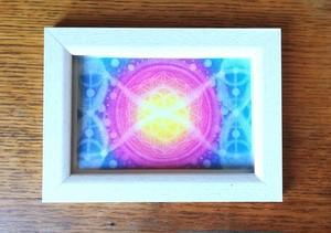 【ポストカード】数秘7フラワーオブライフエネルギーアート