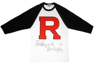 SOLD OUT!! R RAGLAN TEE BLK