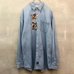 ルーニー・テューンズ デニム刺繍 長袖シャツ  #1000