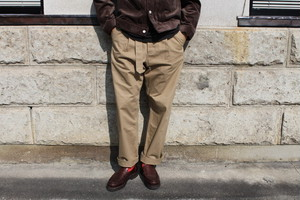 A VONTADE / Mil. Cookman Trousers Ⅱ With/Belt