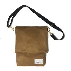 【 Re:n 】 Faux suede shoulder bag Beige
