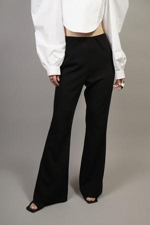 FLARE EASY PANTS (BLACK) 2104-23-35