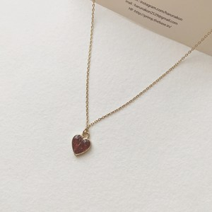 254.heart rose necklace