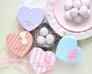 【ホワイトデー】ハートBOX・サクほろクッキー「ポルボローネ」