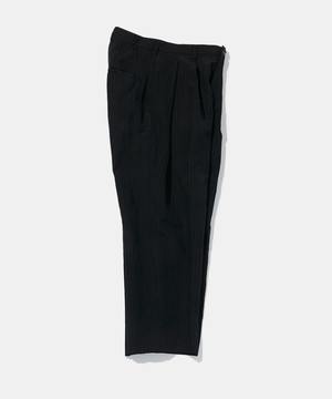 POLYPLOID WIDE TAPERED PANTS C STRIPE BLACK