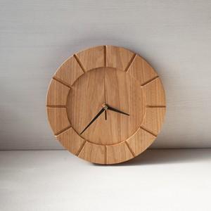 木の時計01(Φ240) No24 | クルミ【針、選択可】