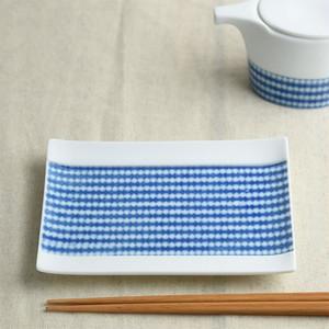 miyama / 深山 / cecima / 瀬縞 / 取り皿 / 絞り染付文様 / 15cm