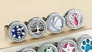 アロマデュフューザーリング☆指輪でアロマテラピー イルカ 生命の木 天使の翼 蝶