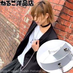 水色/アジャスタータイプ【ブレスレットセット】シンプルなリードチョーカー