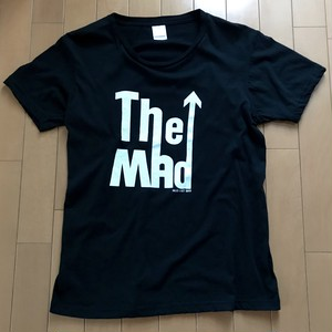 The MAD  T-Sirts White Print on Black