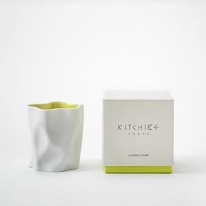 心地よい香りのキャンドル Crinkle Candle -YUZU- KITCHIBE