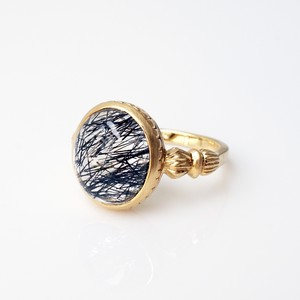 Black Tourmaline in Quartz Ring(CR018-BT)