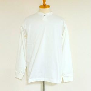 VORTEX Concho Button Henley Neck L/S T-shirts Off White