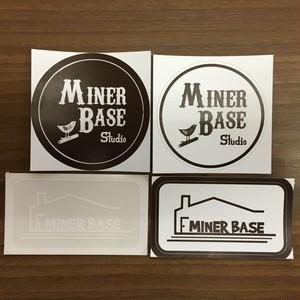 MinerBaseステッカー4Pパック