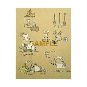 台湾ポストカード「俊猫厨師」