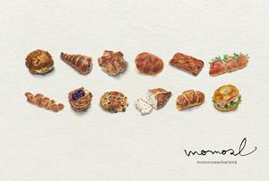 とにかく美味しそうなパンの絵カレンダー2019