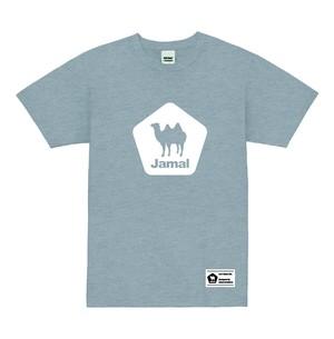 Jamal (ラクダ)ロゴプリントTシャツ MixGray ミックスグレー
