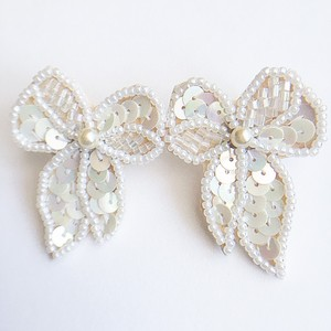 """AVON"" Sequin Bow pierce[p-406]"
