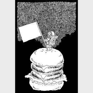 ポストカード(惑星ハンバーガー)