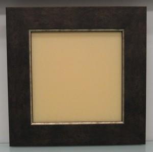 キャンバス寸法150mm×150mm×20mmが入る額縁16-3054茶額縁寸法155mm×155mm窓枠寸法141mm×141mmアクリル/エコスペース付き/箱付き完品