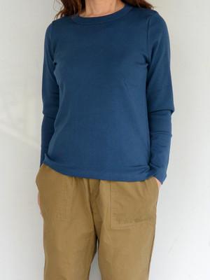 NARU(ナル)スーピマコットンフライスロングTシャツ ネイビー
