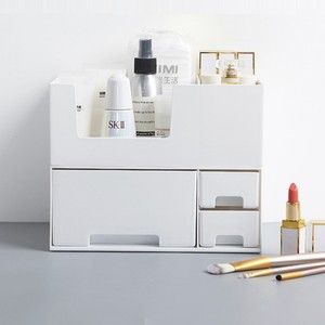 【特価】modern square cosmetic box / 化粧品 収納 トレー ボックス 2段 引き出し 整理 収納 韓国 雑貨