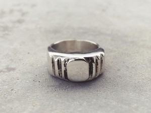 meian silver - step ring