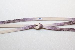 笹浪組 つづれ錦 赤紫〈帯締め〉