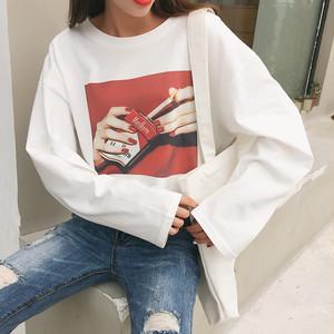 【tops】定番プリントラウンドネックTシャツ20640887