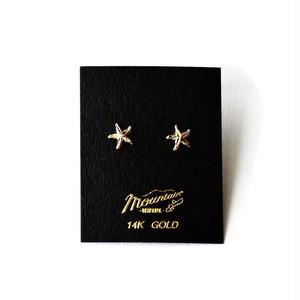 ハワイアンジュエリー / 14K YELLOW GOLD ピアス / スターフィッシュ
