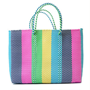 MERCADO BAG LINES-rainbow (L)