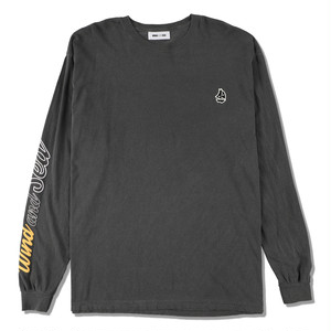 WDS(sail-boat) L/S T-SHIRT (WDS-20A-CS-02) WIND AND SEA CHARCOAL
