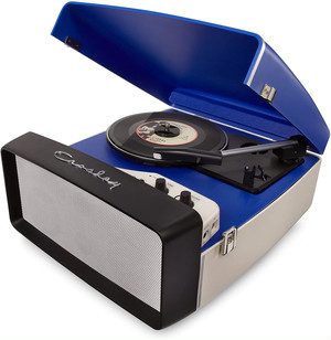 Crosley Collegiate Portable USB Turntable (CR6010A-BL) ポータブルUSBレコードプレイヤー