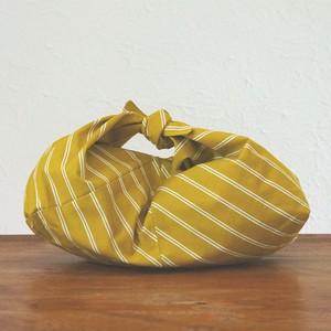 リバーシブル あずま袋 芥子色×棒縞文様(小)