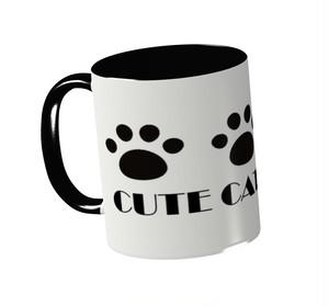 CUTE CAT CLUB  2トーンマグカップ(ホワイト×ブラック)