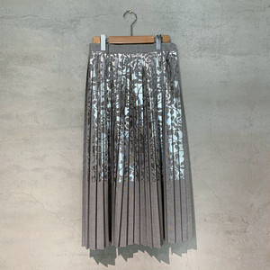 【mintdesigns】FOILED PLEATED SKIRT/37204-FL1SK03
