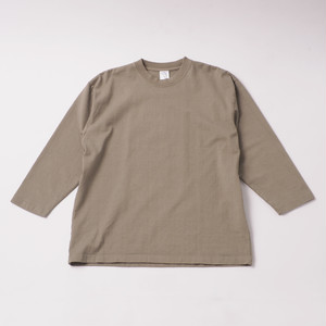 Smooth Heavy Garment Dye Embroidery Cropped Sleeve designed by joji nakamura / Atomos Green