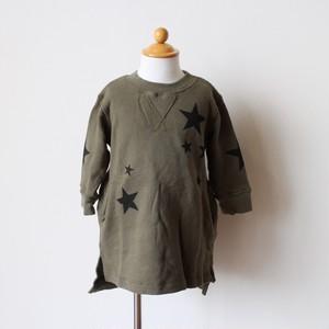 子供服 スター プリント 裏毛 ワンピース
