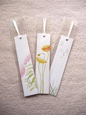 草花のしおり 3種類セット
